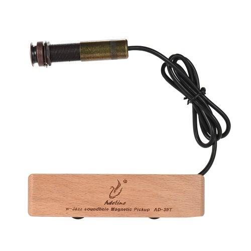 Adeline AD-39T Exquisite Solid Wood Passive Magnetic Soundhole Pickup Volume Tone Adjustment Copper 6.5mm Female Plug Acoustic Folk Classical Guitar