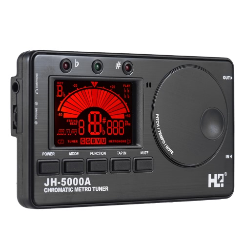3 1 Electronic Digital Tuner Metronome Tone Generator Built-in Mic Tuning LCD Display Chromatic Guitar Bass Ukulele Violin