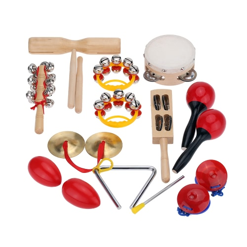 Percussion Set Kids Children Toddlers Music Instruments Toys Band Rhythm Kit with Case от Tomtop.com INT