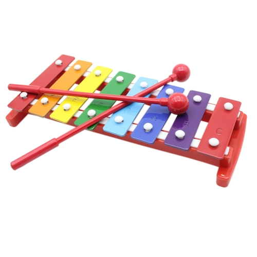 Kids Children Toddler Colorful 8 Note Glockenspiel Educational Musical Instrument Rhythm Band Toy Percussion от Tomtop.com INT