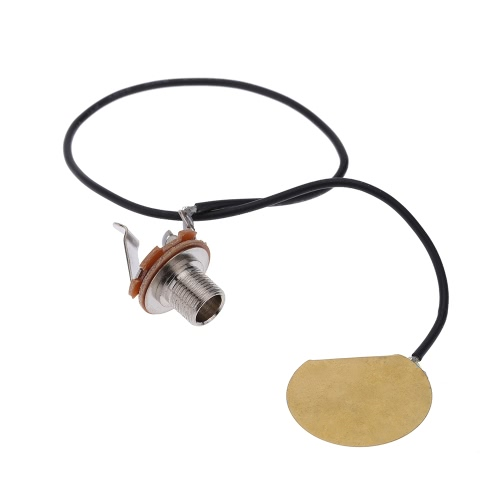 Acoustic Guitar Transducer Pre-Wired Amplifier Piezo Jack Pickup Accessory