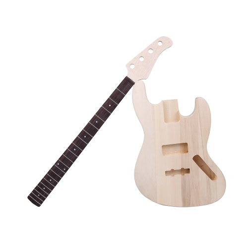 JAZZ Bass Style 4-String Electric Bass DIY Kit,limited offer $64.99