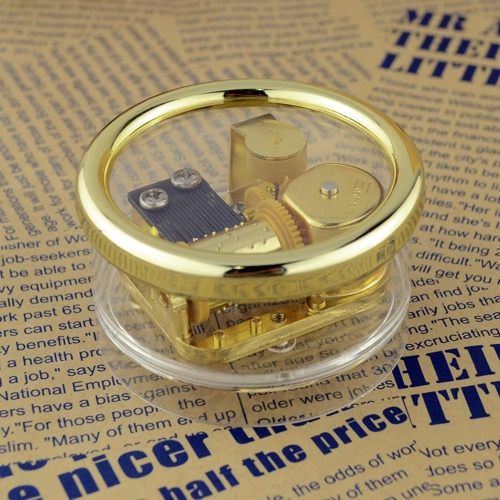 Acrylic Cylinder Musical Box Windup Music Box 18 Notes Movement Gold Melody Castle in the Sky от Tomtop.com INT