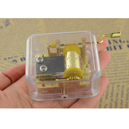 Unique Musical Box Acrylic Hand Crank Music Box Golden Movement Melody Castle in the Sky от Tomtop.com INT