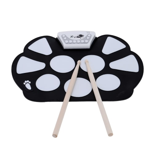 Electronic Roll up Drum Pad Kit with Stick,limited offer $21.99