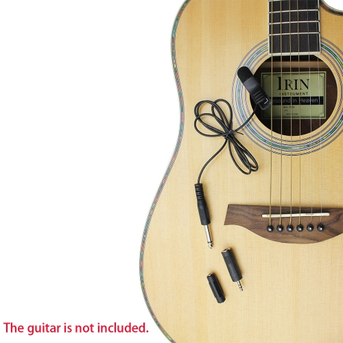 Buy Clip-on 6.5mm Sound Pickup Guitar Bass Cello Ukulele Violin 3.5mm Male Female Jack Adapter