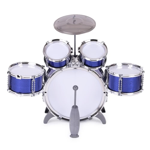 Buy Children Kids Drum Set Musical Instrument Toy 5 Drums Small Cymbal Stool Sticks Boys Girls