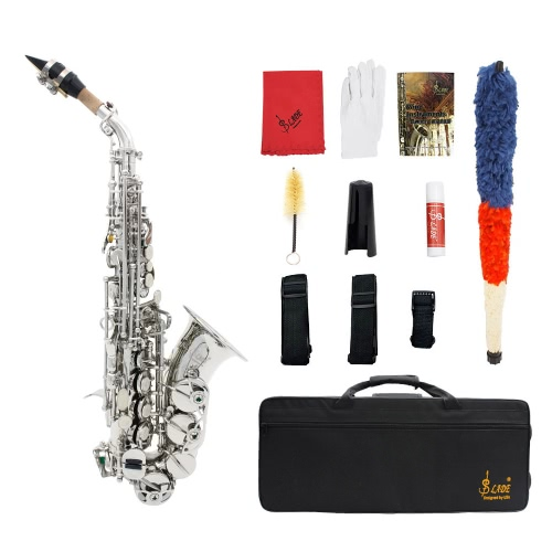 Buy lade brass golden carve pattern bb bend althorn soprano saxophone sax pearl white shell - Lade bz ...