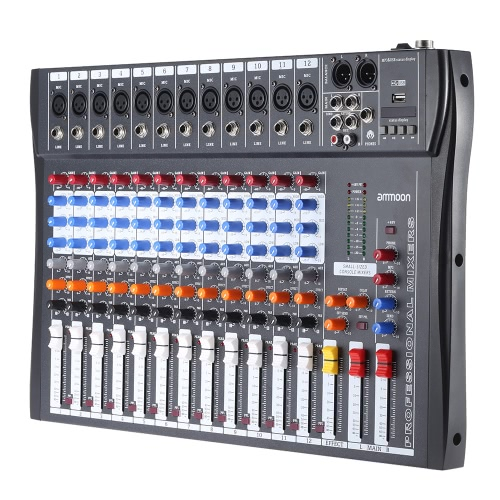 ammoon 120S-USB Mic Line Audio Mixer Mixing Console,limited offer $78.57