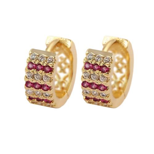 Buy Fashion Luxurious Shining 18K Gold Plated Crystal Zircon Hoop Earring Jewelry Women Girl Bride Wedding Party