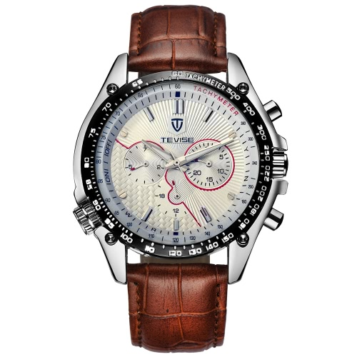 Buy TEVISE New Arrivals Men Fashion Luxury Brand Man Watches Full Steel Discolored Glass Military Style Automatic Mechanical Watch Multi-fuction Self-winding Wristwatch