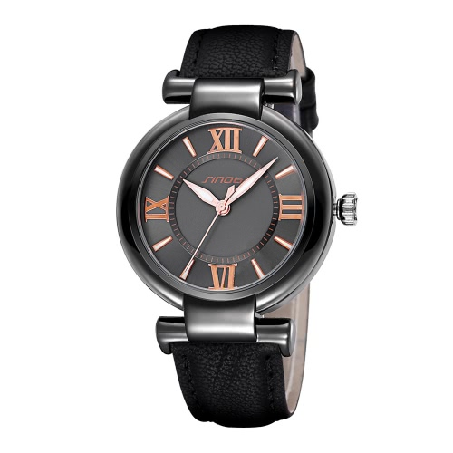 Buy SINOBI Top Brand New Luxury Leather Women Watch Ladies Fashion PU Quartz Dress Watches Roman Number Casual Wristwatch