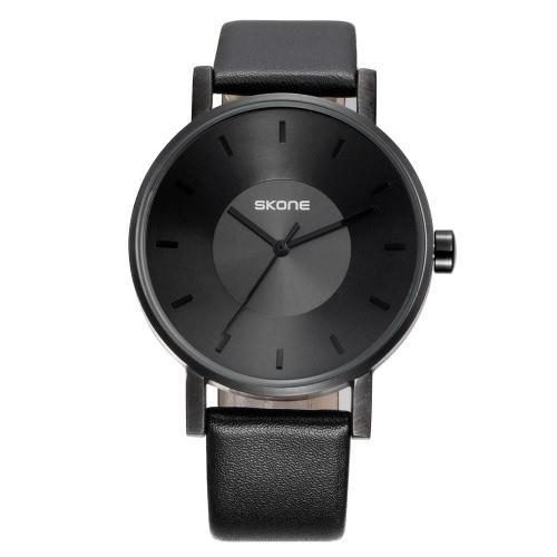 Buy SKONE Fashion Luxury Quartz Couple Watches Water-Proof PU Leather Lovers Watch Men Women Casual Wristwatch
