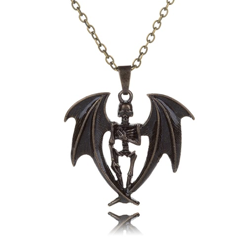 Buy Fashion Men Jewelry Glowing Skull Wing Pendant Cool Personality Style Various Colors Necklace