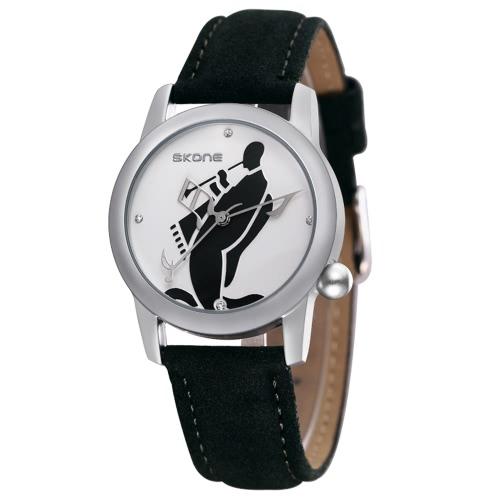 Buy SKONE 2017 Fashion Luxury Diamond Women Watch Genuine Leather Strap Quartz Ladies Watches Water-Proof Casual Dress Wristwatch Feminino Relogio