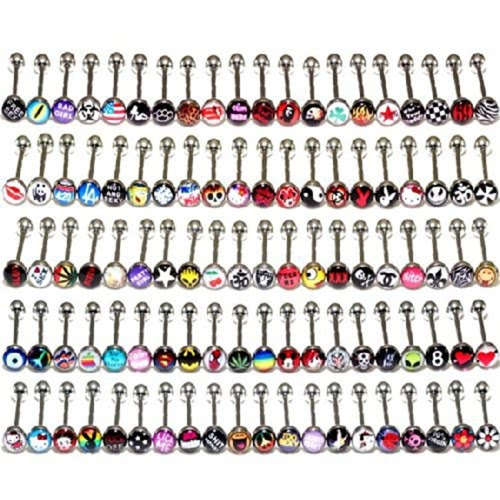 Buy 3New Fashion Jewelry Metal Piercing Tongue Rings Stainless Steel Bars Barbells Funny Body
