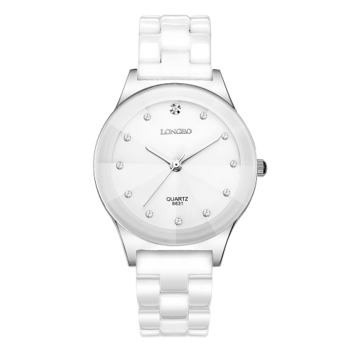 Buy LONGBO 3ATM Water Resistant Woman Man Analog Quartz Watch Trendy Luxury Ceramic Wristwatch