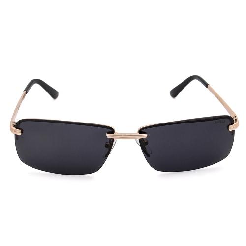 JOGAL Luxury Sun Glasses Polarized Sunglasses Driving Man Male Fashion Metal Frameless Lightweight Retro Vintage UV400