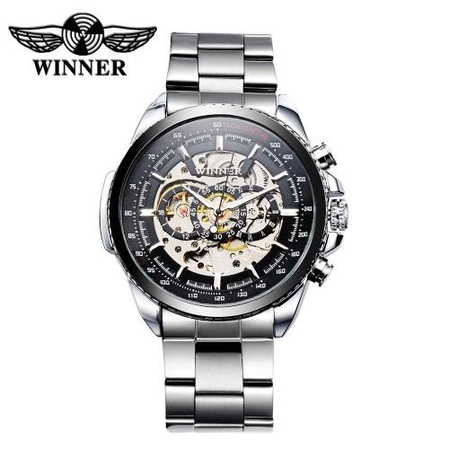 Buy WINNER Hollowed-out Automatic Mechanical Watch Business Style Luxury Self-winding Man Wristwatch