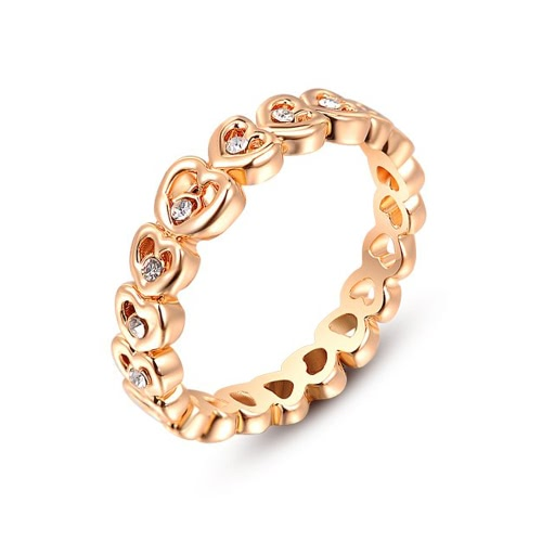 Buy Roxi Fashion Zircon Crystal Rhinestone Gold Plated Heart Designed Ring Jewelry Women Gift Engagement