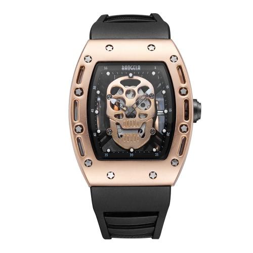 Buy BAOGELA New Fashion Luminous Skeleton Skull Men Watch Silicone Strap Analog 30M Water-Proof Man Casual Wristwatch Masculino Relogio Best Gift