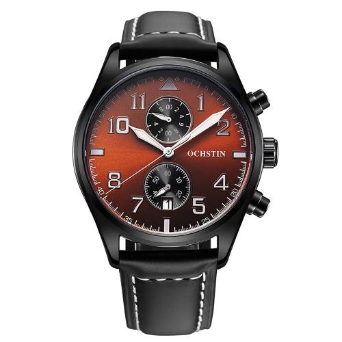 OCHSTIN 3ATM Water Resistant Fashion Analog Quartz Watch Excellent Man Wristwatch with Calendar
