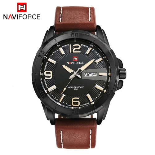 NAVIFORCE Fashion Luxury Brand Men Business Wristwatch Luminous 3ATM Water-resistant Man Casual Quartz Watch with Date