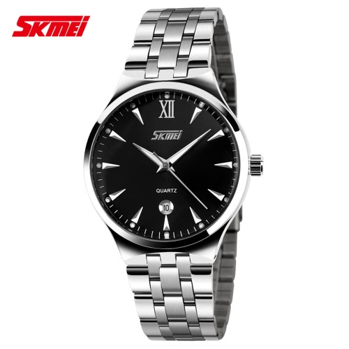 Buy SKMEI 2016 Brand Luxury Fashion Luminous Men Casual Quartz Watches Stainless Steel Water-resistant Male Man Business Wristwatch Calendar