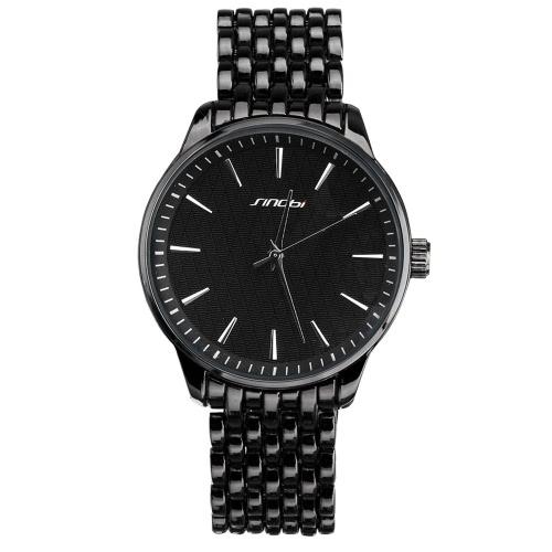 Buy SINOBI 2016 New Luxury Brand Alloy Men's Watch Classic Grid Unisex Man Woman Quartz Wristwatch 3ATM Waterproof Business Fashion Watches