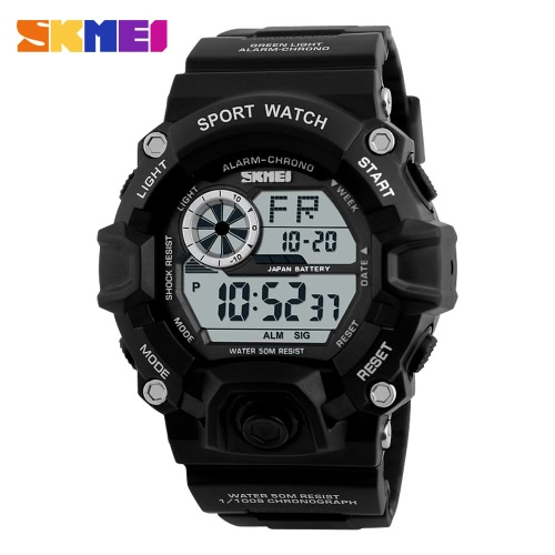 Buy SKMEI Brand Digital LED 50M Water-Proof Men Military Sports Watches Fashion Man Electronic Outdoor Casual Wristwatch Alarm Backlight Chronograph Date Masculino Relogio