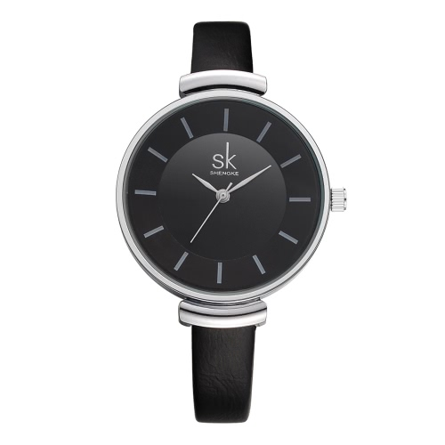 Buy SK Brand Luxury PU Leather Strap Quartz Women Watches Simplicity Analog 30M Water-Proof Ladies Wristwatch Feminio Relogio