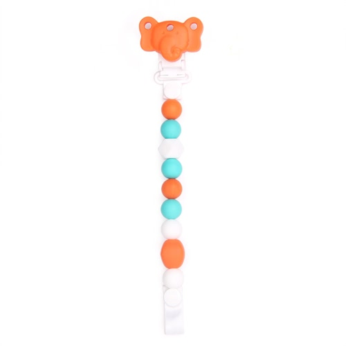 Buy 100% Food Grade Cute Colorful Silicone BPA Free Pacifier Clip Holder Chain Soft Beads Teething Teether Chew Nursing Soothing Jewelry Toy Baby Boys Girls Toddler Gift