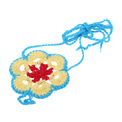Cotton Thread Crochet Foot Chain Bracelet Anklet Colorful Flower Beach Barefoot Sandal 2#