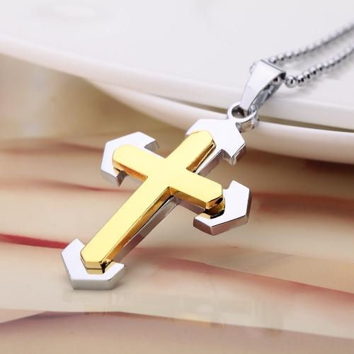 Buy Fashion Personalized Cross Pendant Necklace Chain Vintage Retro Punk Man Womem Jewelry Accessory