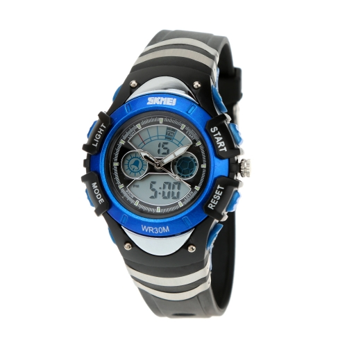 Buy SKMEI Fashion Dual Time Electronic Multiple Functional Watch Casual Water Resistant Silicone Strap Sports Wristwatch Children