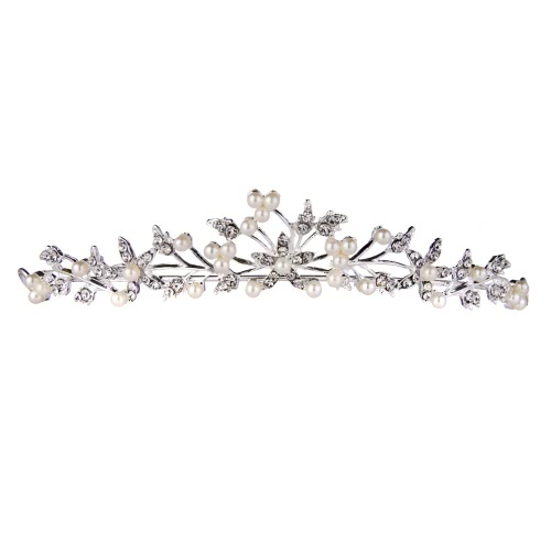 Western Style Fashional Rhinestone and Pearl Hair Comb Women Ladies Little Girls Jewelry Headpiece от Tomtop.com INT