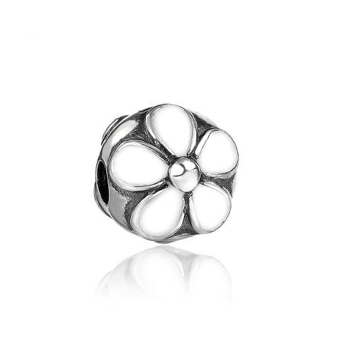 Romacci Daisy Enameled Clip Bead S925 Sterling Silver for 3mm European Charm Bracelet DIY Women Jewelry от Tomtop.com INT