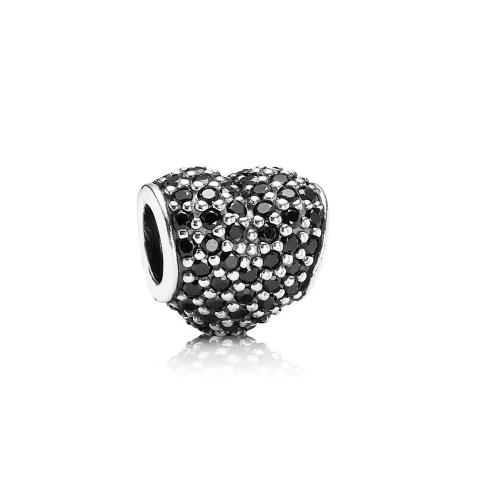 Romacci Heart-shaped Bead CZ Diamond S925 Silver for European Charm Bracelet DIY Women Jewelry от Tomtop.com INT