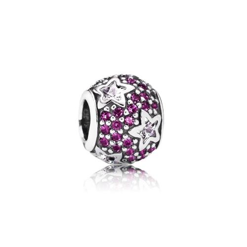 Romacci Star CZ Diamond Bead S925 Sterling Silver for European Charm Bracelet DIY Women Jewelry от Tomtop.com INT