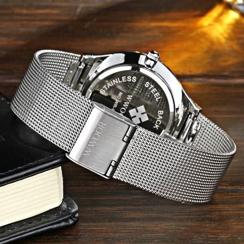 Oferta reloj de acero WWOOR por 11 euros (Cupón Descuento) 1 oferta reloj wwoor