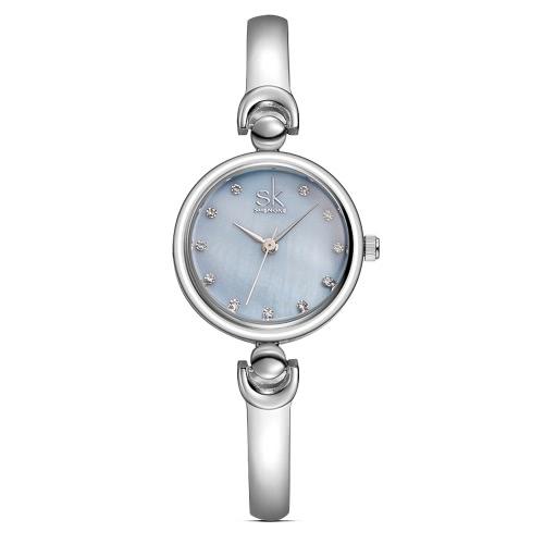 Buy SK 2017 Fashion Luxury Diamond Women Bracelet Watches Quartz Water-Resistant Sweety Ladies Casual Wristwatch Feminio Relogio 5 Colors