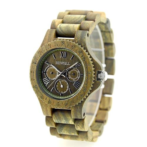Quartz Analog Unique Hypoallergenic Wooden Wristwatch High