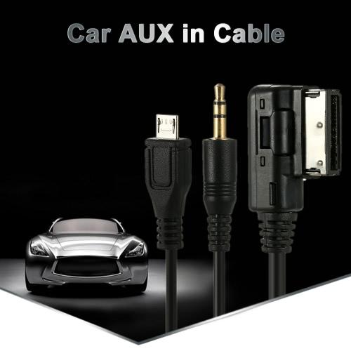 Buy KKmoon 3.5mm Mini Jack Aux MP3 Cable USB Adapter Music AMI MMI Interface Audi A3 A4 A5 A6 TT VW Jetta GTI GLI Passat CC Touareg