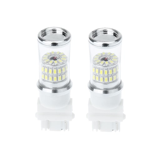 Buy 2 X 3157 3014-48SMD Car White LED Bulb Rear Brake Backup Turn Signal Light Lamp Replacement 570LM
