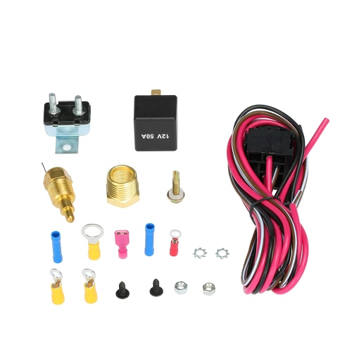 Buy electric cooling fan wiring install kit 185 170 degree thermostat at tomtop chinese goods - Four 200 degres thermostat ...