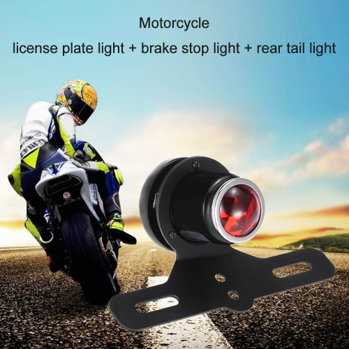 Buy 12V Motorcycle Rear License Plate Light Tail light Brake Stop Lamp Taillight Bracket Halley