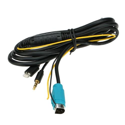 Buy KKmoon Car 3.5mm AUX Input Audio Cable Alpine KCE-236B Charge Interface iPhone 5 5S 5C 6 6Plus