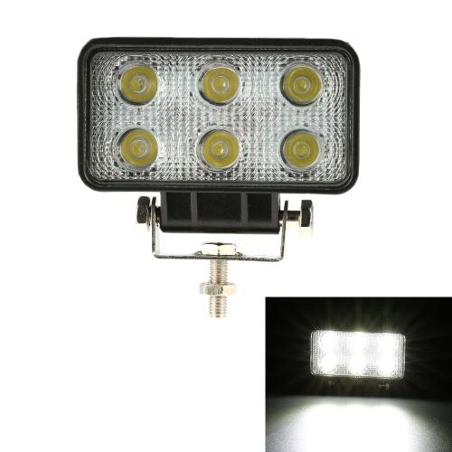 Buy KKmoon 18W LED Car Work Light Bar 4.3 Inch 1350LM Spot Beam Jeep Offroad ATV Truck SUV 12V 24V