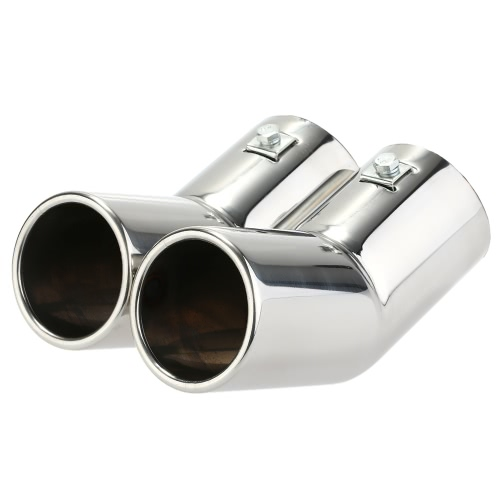 Buy Dual Pipes Stainless Steel Exhaust Tail Muffler Tips VW Golf 4 Bora Jetta