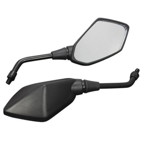 Buy 1 Pair Universal Motorcycle Scooter Aluminum Alloy Rearview Side Mirror Modified Accessories 8mm 10mm Exterior Diameter Handlebar Street Cars Scooters
